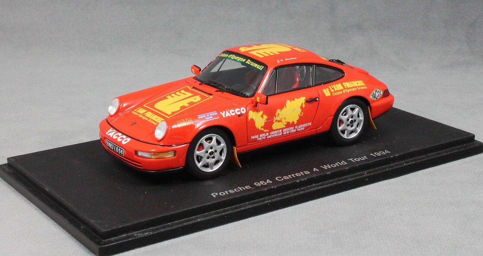 SPARK PORSCHE 911 964 CARRERA 4 World Tour 1994 liautaud S1373