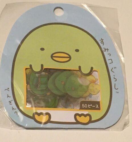 San-X Japan Clear Stickers 50 Flake Bits 10 Designs Sumikko Gurashi Penguin