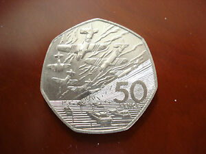 1994 50th Anniversary of the D-Day Landings Fifty Pence 50P Commemorative Coin