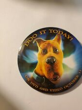 Scooby Doo Pin Back Promotional 2002 Movie Button Do It Today Video Store Promo