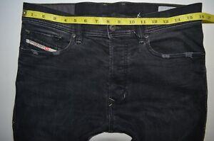 mens-DIESEL-TEPPHAR-0666Q-Black-Grey-JEANS-size-W30-L34-Slim-carrot-leg-stretch