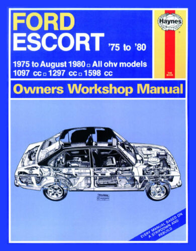 up to V Workshop Manual 1975 - Aug 1980 0280 Haynes Ford Escort