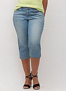 cf6b48541e3  65 Lane Bryant Classic Denim Capri Jeans Plus Size 16 1X Zip Fly w ...