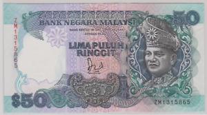 Mazuma *M955 Malaysia 6th $50 ZM1315865 GEF