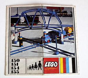 Lego-150-151-154-155-Eisenbahn-aus-1967-Bauanleitung-Gebraucht-ohne-Steine-49