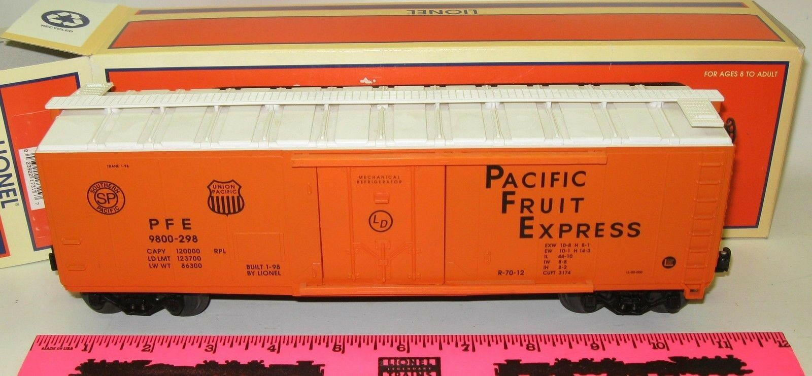 Lionel 6-17315 Pacific Fruit Express Refeer   9800-298