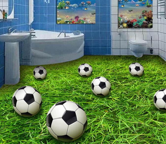 3D Football Grassland Floor WallPaper Murals Wall Print Decal 5D AJ WALLPAPER