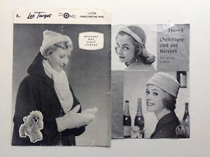 Bundle Of 2 Ladies Hat Scarf Gloves Cravat Original Vintage