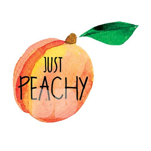 "Peachy Just Peachy Peach Decal Sticker Laptop Tumblr Water Bottle 3.7/"" X 3/"""