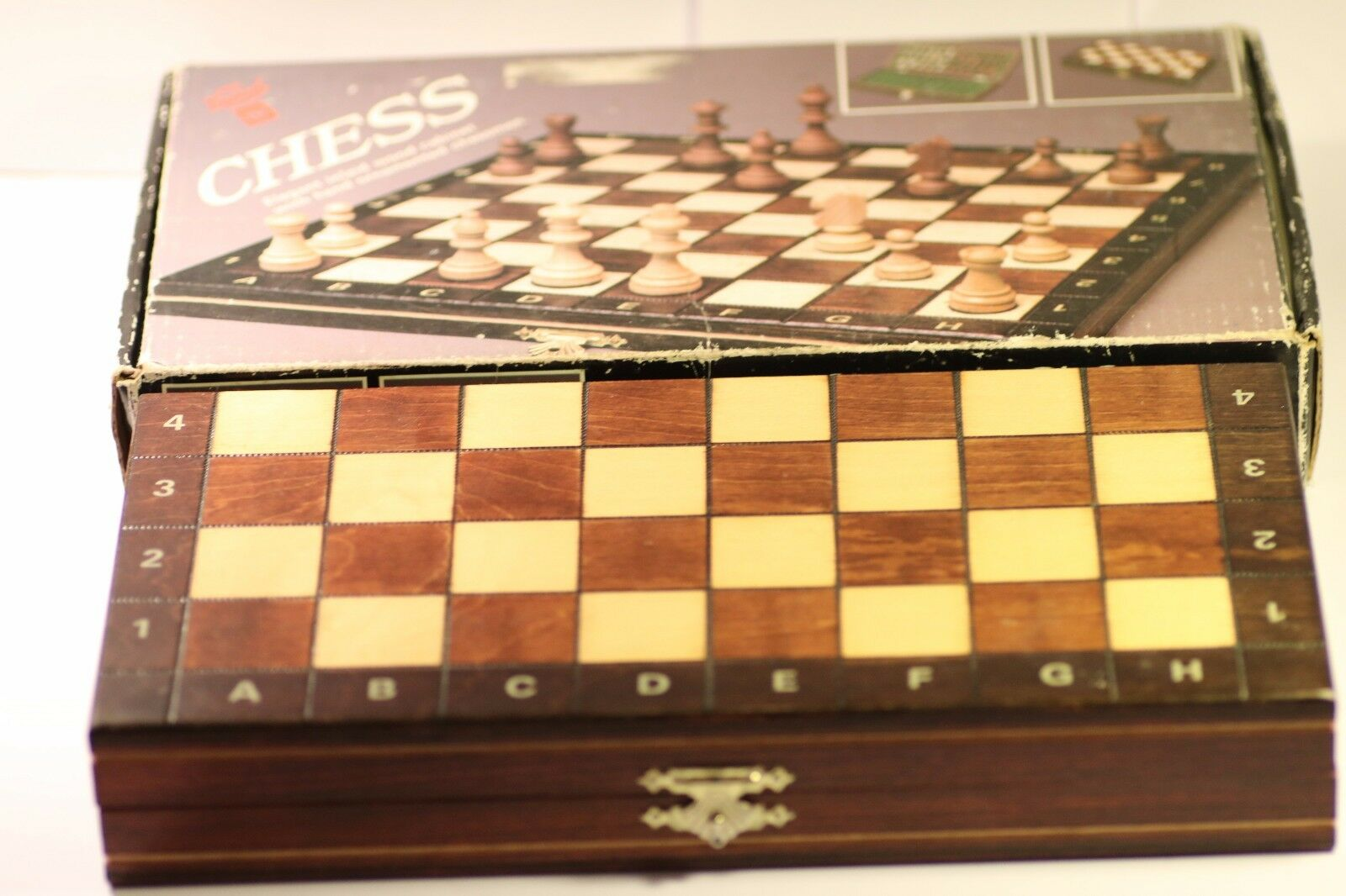 Vintage NEGIEL Schachspiel Chess Set hêtre-Boîcravater en Bois SYCAMORE  sculptés à la main  le magasin