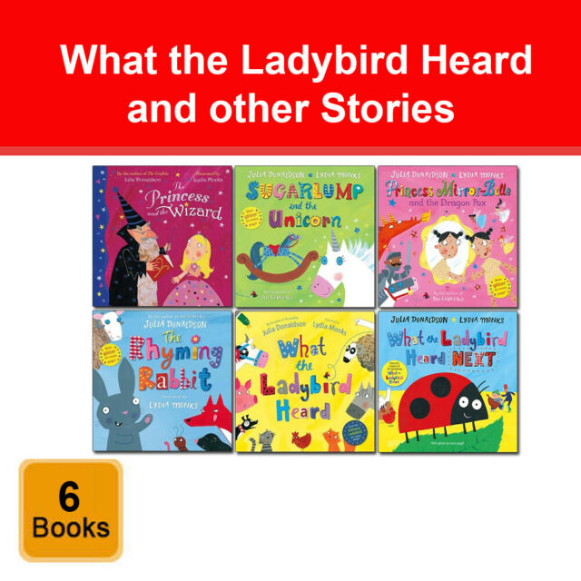 What the Ladybird Heard and other Stories Collection 6 Books Set Julia donaldson