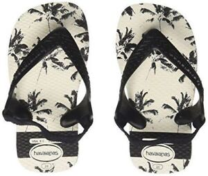 c90c33895 Havaianas Kids Baby Chic Black White Rubber Flip Flops Sandals All ...