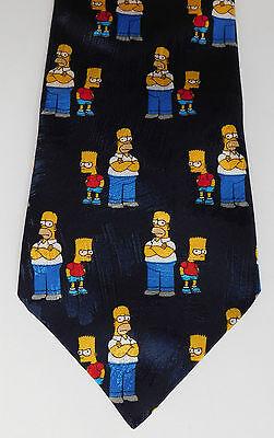 Matt Groening Simpsons tie Bart Homer TV cartoon character C&A Fox vintage 1990s