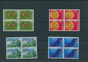 Switzerland-vintage-yearset-1976-Mi-1079-1082-Postmarked-4-er-Bl-More-Shop