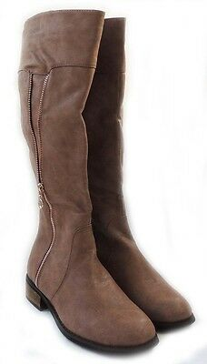 complete range of articles half off premium selection New Reneeze Womens Fashion Knee-High Riding Winter Cowboy Boots/KHAKI  HELEN-01 | eBay