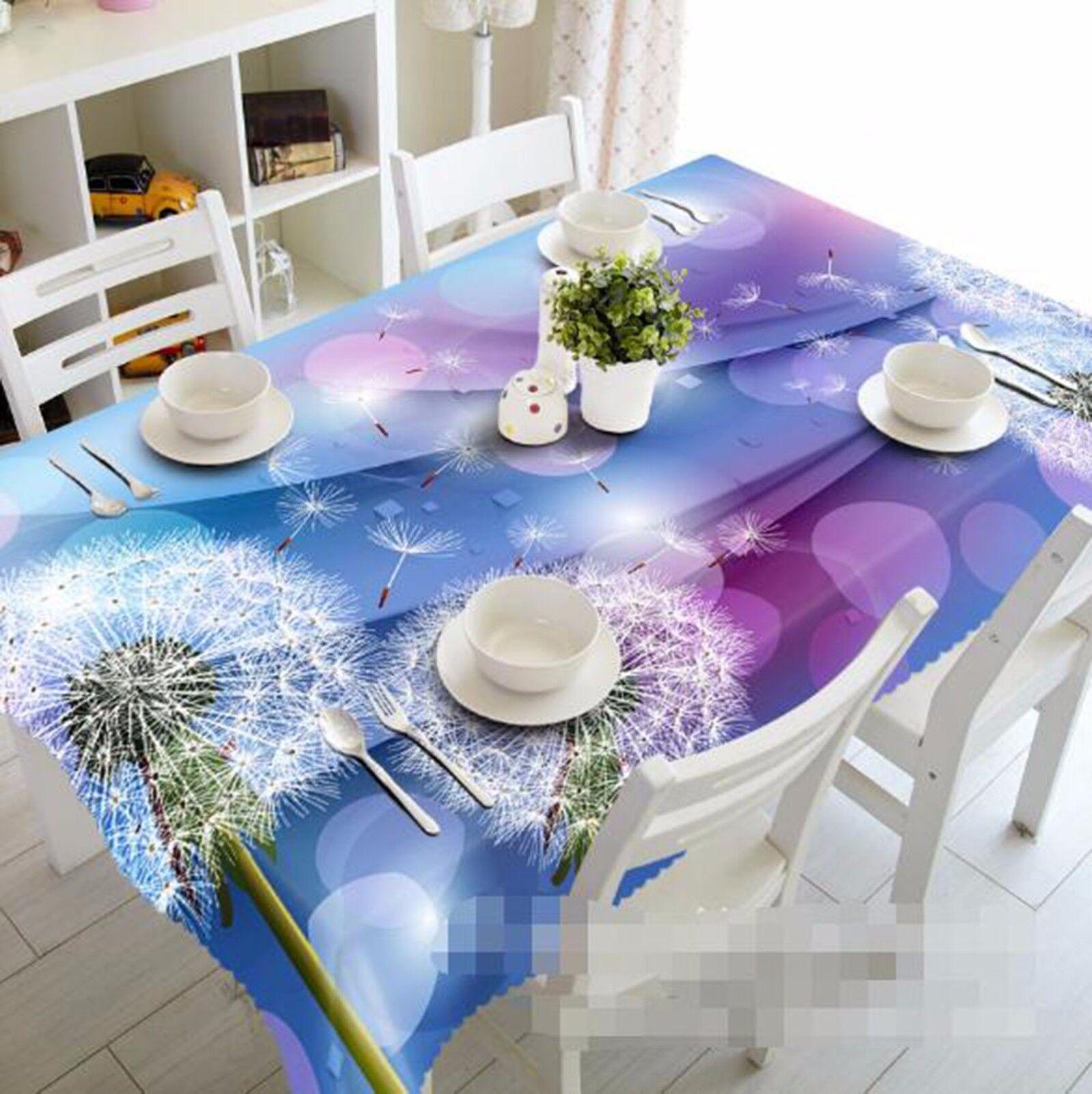 3D Dandelion Nappe Table Cover Cloth fête d'anniversaire AJ papier peint Royaume-Uni Citron