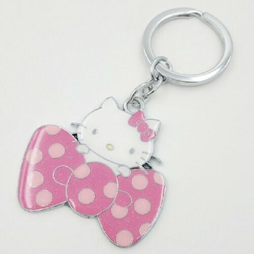 Hello Kitty Keychain Key Ring Key chain cat keychain Bag Charm Big Bow Pink