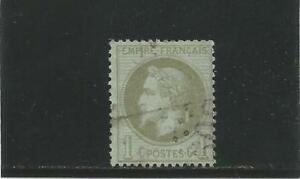 FRANCE-n-25-Napoleon-1c-bronze-oblitere-cote-25