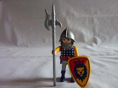 PLAYMOBIL personnages chateau soldat chevalier du lion en arme n°5 m
