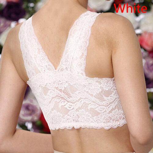 Lace Yoga Sports Vest Padded Wireless Seamless Push Up Sleep Bra Underwear M-4XL