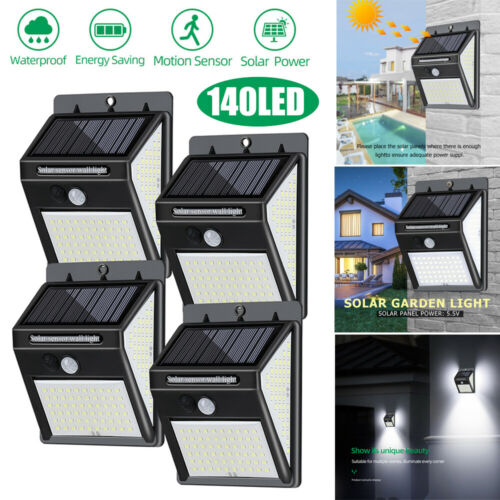 140 LED Solar Light with Motion Sensor Solar Lamp Outdoor Light Garden Lamp