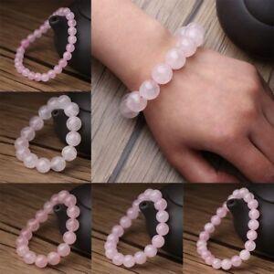 Gemstone-Natural-Rose-Crystal-Gemstone-Beads-Pink-Quartz-Jade-Bracelet-Round