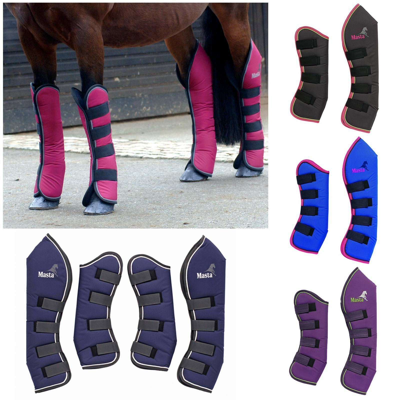 Masta Equestrian Horse Predection Mhb020 Avante Travel Boots Printed Logo