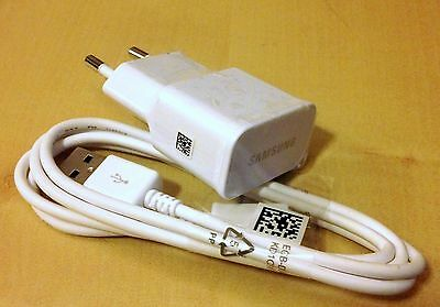 Genuine Original Samsung EU 2A Charger Adapter+USB Cable for Galaxy S4 i9500
