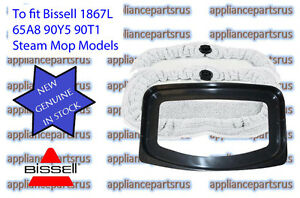 Bissell-Steam-Mop-Floor-Pads-amp-Refresher-Suit-1867L-3255-3250-Pk2-Part-98T1