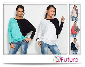 Two-Colors-Womens-Tunic-Batwing-Blouse-Kimono-Crew-Neck-Size-8-18-6042