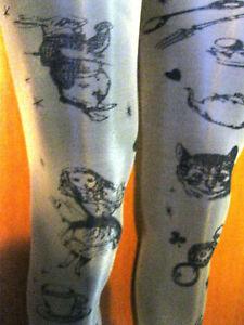 Steampunk-Alice-In-Wonderland-Tattoo-Pattern-Sheer-Pantyhose