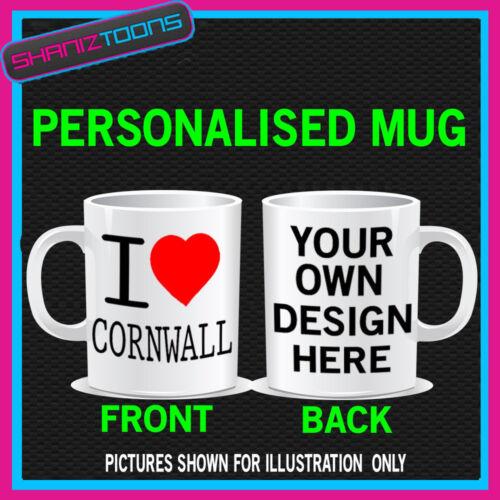 I LOVE HEART CORNWALL COFFEE MUG GREAT GIFT