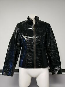 a5c4ca520 Wilsons Leather Pelle Studio Ladies Black Snake print Jacket Lining ...