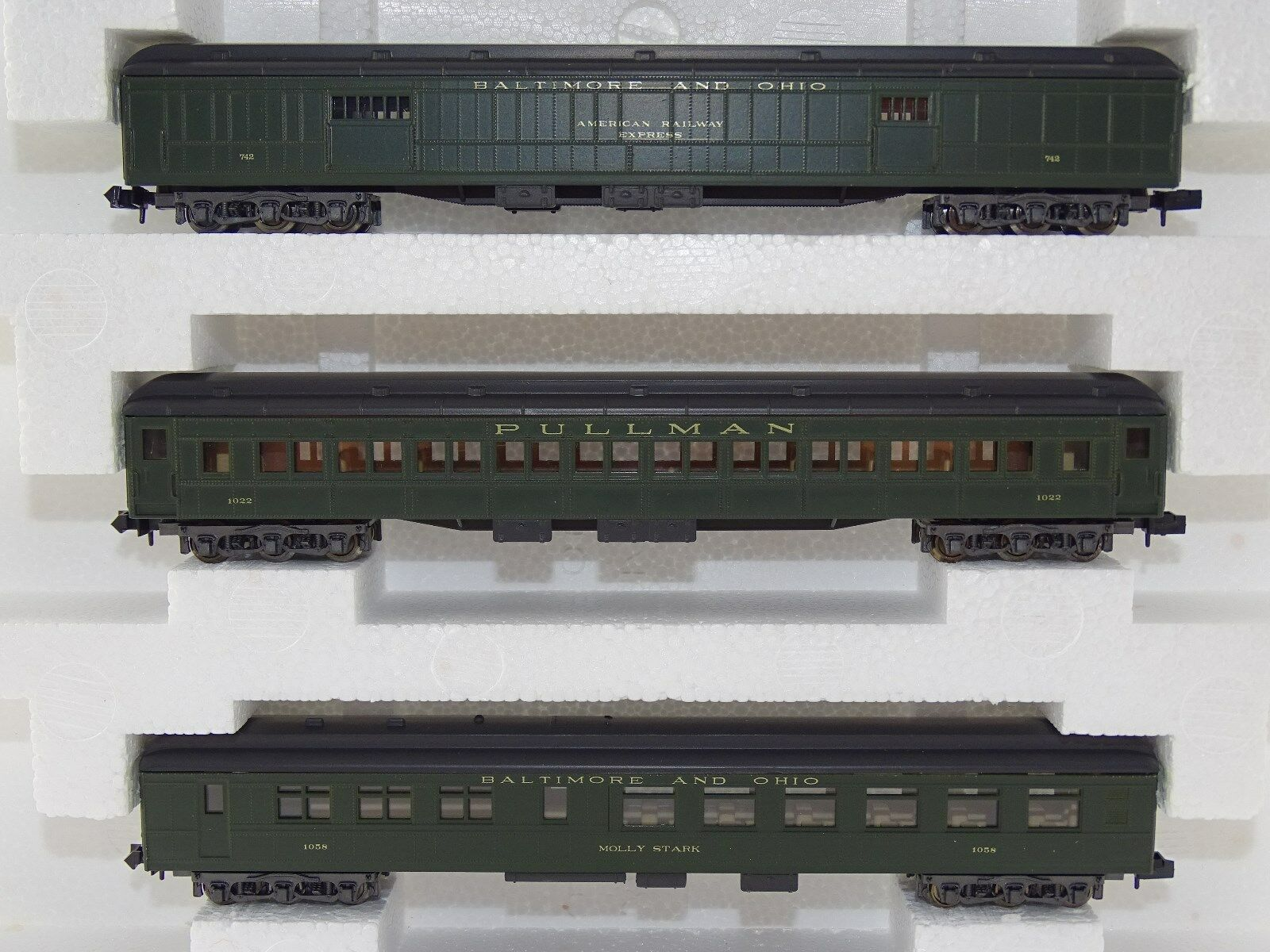 Rivarossi 0535 Passenger Car Set Baltimore and Ohio Pullman N OVP RARE
