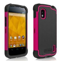 Ballistic LG Nexus 4 E960 SG Shell Gel Rugged Case Cover Black / Pink