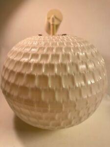 Midcentury-Ferdinand-Gangkofner-OpArt-Bowl-Lampe-Erco-2107-im-Originalzusand