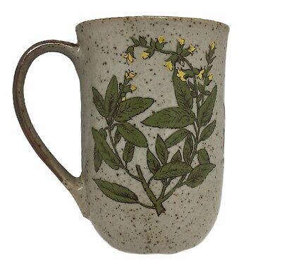 Vintage Succulent Planter Herb Boho Takahashi Speckled Floral Japan