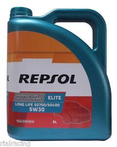 REPSOL-ELITE-LONG-LIFE-5W30-50700-50400-5L-ACEITE-DE-MOTOR-PARA-FILTRO-PARTICULA