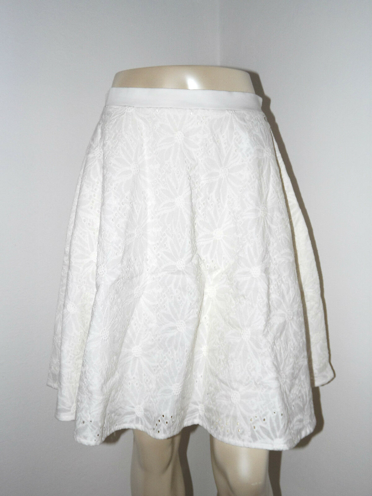SCONTO 50% FORNARINA GONNA ESTATE BIANCO TG. XS M L REGINA Weiß Baumwolle SKIRT