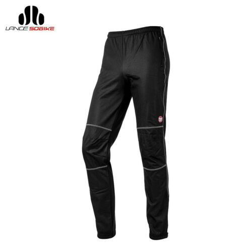 SOBIKE Mens Cycling Pants Thermal Autumn Casual Tights Windproof Pants Black