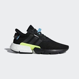 Adidas-Originals-POD-S3-1-Boost-Black-White-Yellow-Men-Lifestyle-Shoe-New-AQ1059