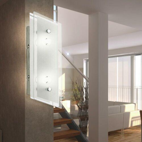 Luxus LED Decken Leuchte Ess Zimmer Dielen Strahler Wand Chrom Lampe Glas Schirm