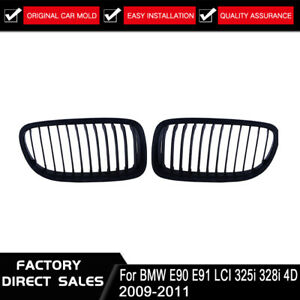 Matte-Black-Front-Kidney-Grille-Grill-For-BMW-E90-E91-325i-328i-335i-2009-2011