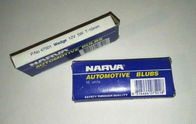 Narva 47501 - Globe 12V-5W WEDGE BASE - T-10mm (10Pk)