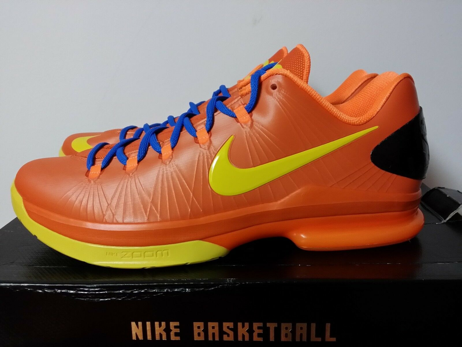 NEW NIKE KD V 5 ELITE SZ 11.5 12 orange Yellow bluee 585386-800 kevin durant X vi