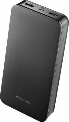 Insignia 20,000 mAh Portable Charger for Most USB Enabled Devices Black 600603250897   eBay