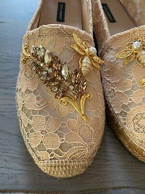 Dolce Gabbana Embellished Lace Espadrillas Lace Shoes Mule Sandal Shoes 41 | eBay