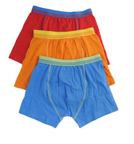 3 Paia Da Uomo /& Ragazzi Boxer Pantaloncini Slip Biancheria Intima Adulti ad altezza vita M L XL