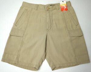 NWT $88 Tommy Bahama Shoreline Tan Cargo Shorts Mens Size 30 34 Key Grip NEW