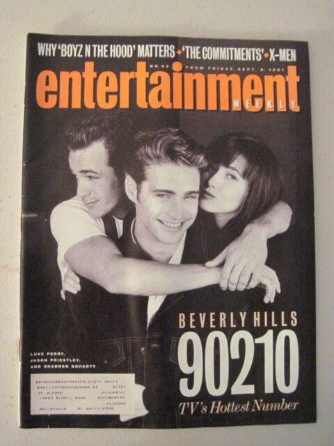 Entertainment  Magazine September 1991. Beverly Hills 90210. X-Men Comics!